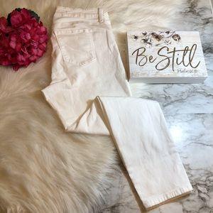 NYDJ Ami Skinny Ankle Jeans White, Size 10